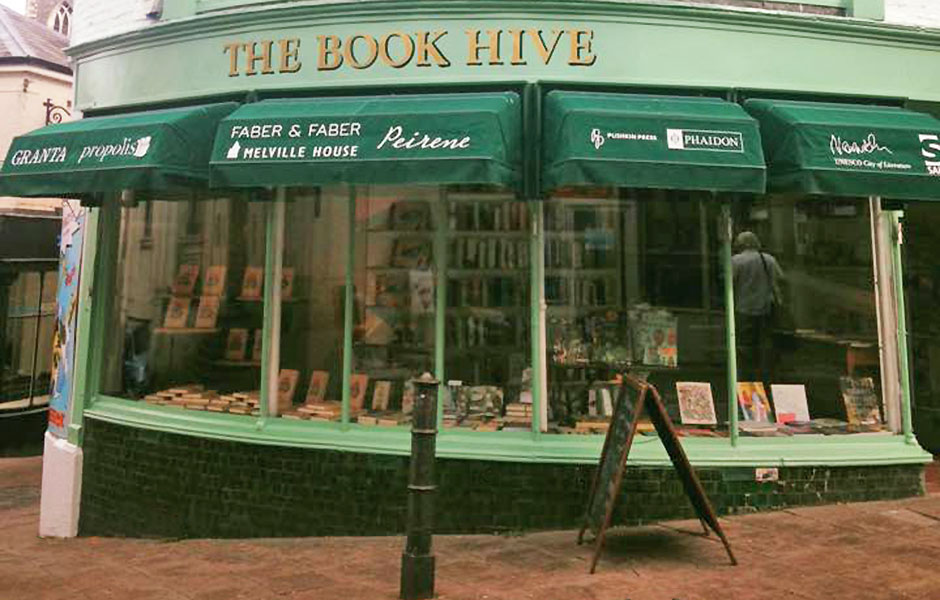 The Book Hive Norwich independent book shop.