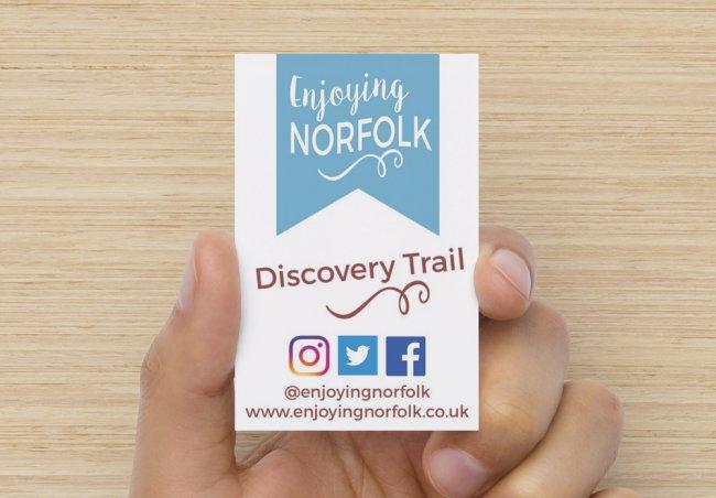 Enjoying Norfolk Discovery Trail card.