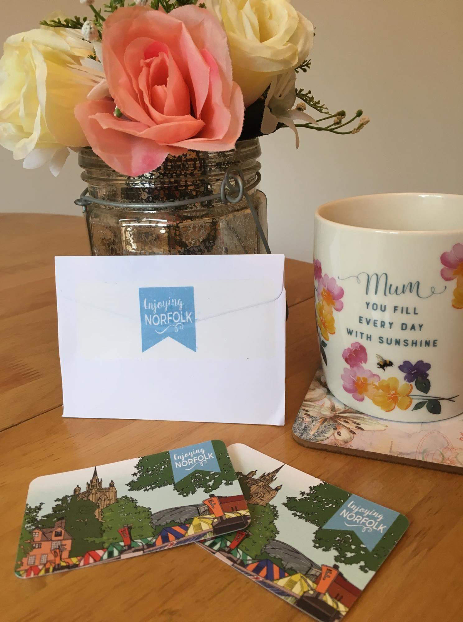 Teepees Tents & Treats receives her cards!