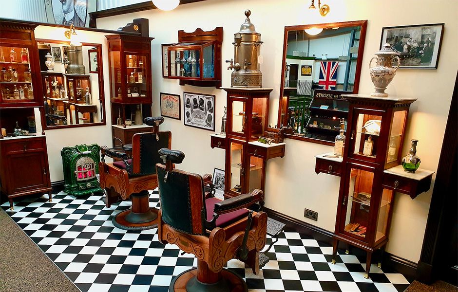 Captain Fawcett's Marvellous Barbershop Museum.