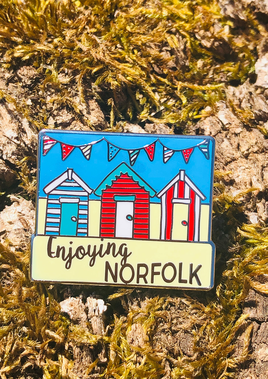 Enjoying Norfolk Summer Virtual Challenge pin badge.