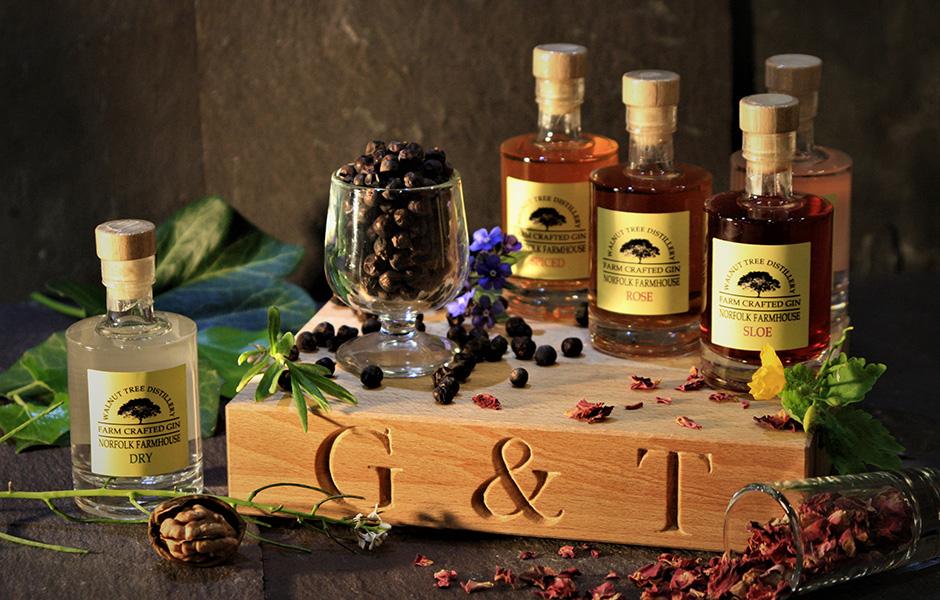 Walnut Tree distillery gin from Norfolk.