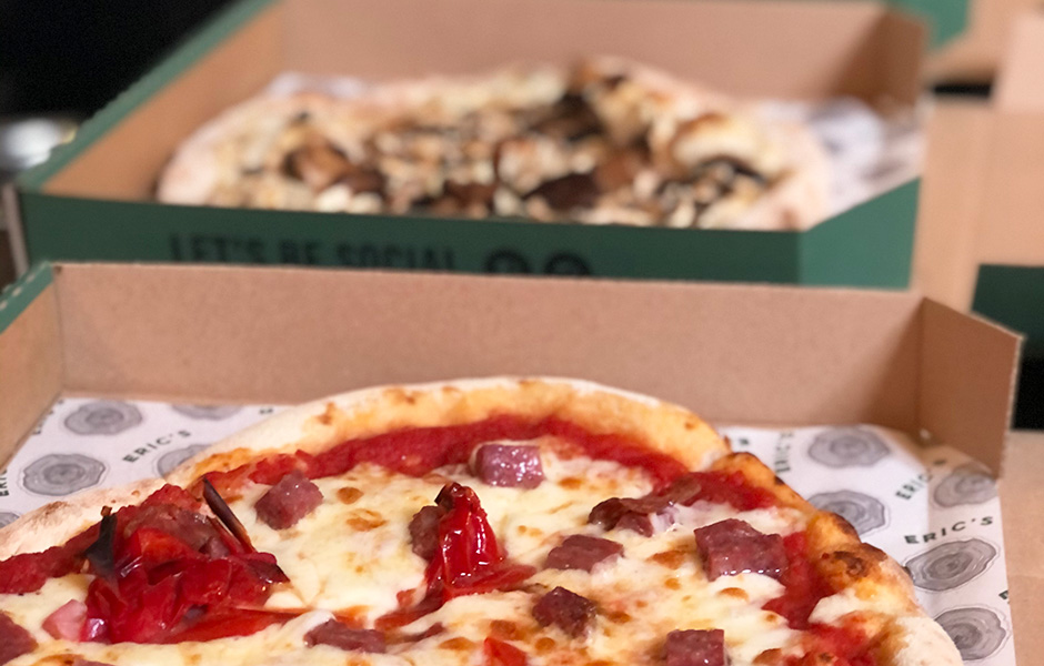 Pizza from Eric's Pizza Thornham North Norfolk.