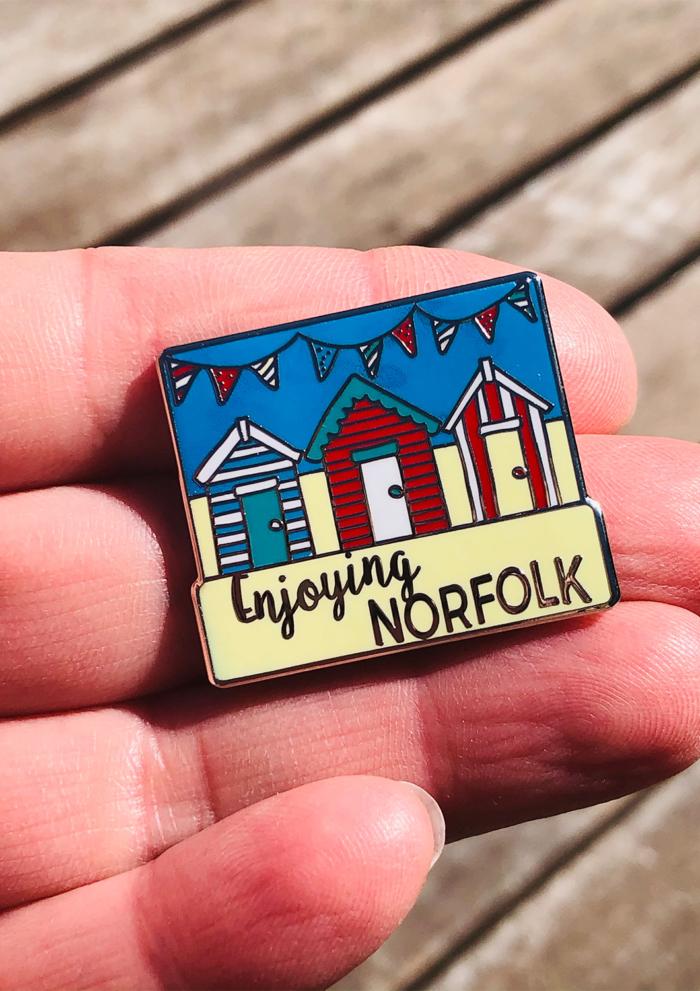 Enjoying Norfolk Summer 2021 Virtual Challenge pin badge.