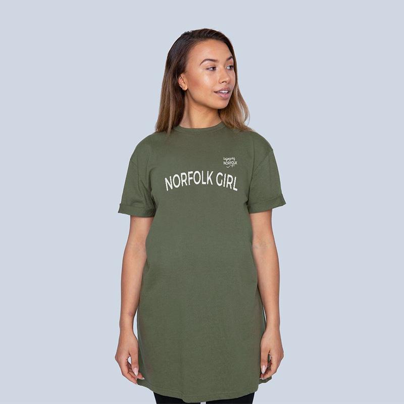Norfolk Girl cotton T-Shirt Dress.