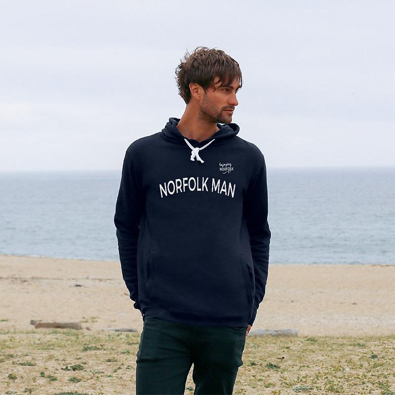 Norfolk Man organic cotton hoodie by Enjoying Norfolk.