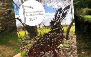 Brochure / trail map for the Raveningham Sculpture Trail 2021.