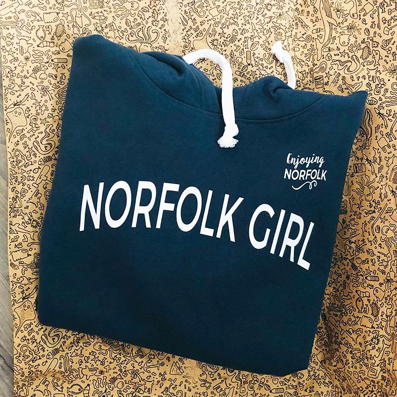 Norfolk Girl organic cotton Hoodie by Enjoying Norfolk.