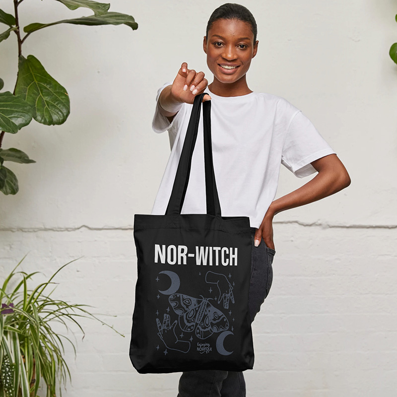 Nor-Witch Halloween Organic Tote Bag.