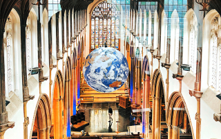 Gaia as viewed from the Bell Tower at St peter Mancroft in Norwich.